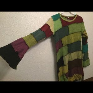 Jayli Patchwork Dress Size L